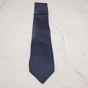 Men's Tie in blue and grayish silver polka dot